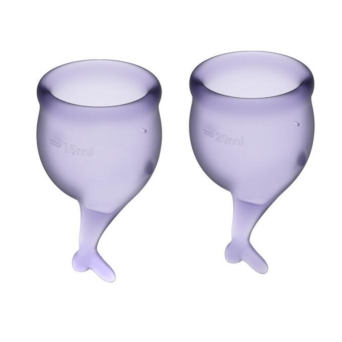 Distribution Sex Toys Satisfyer Feel Secure Menstrual Cups Lila